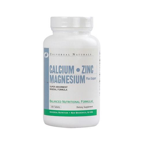 Universal Nutrition Calcium, Zinc & Magnesium - 100 Kapseln
