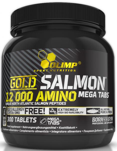 Olimp Gold Salmon 12000 Amino 300 Mega Tabs - 300 Kapseln