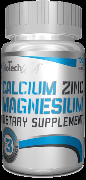 Biotech USA Calcium Zinc Magnesium 100 Tabletten