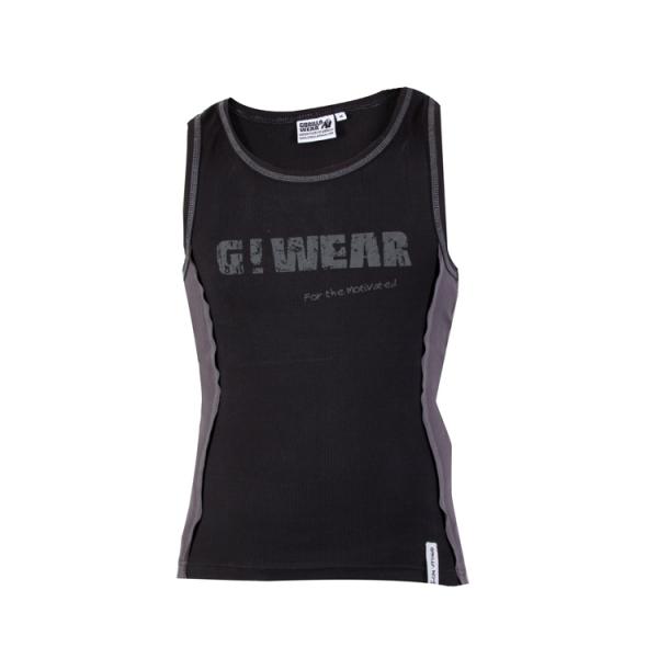 Gorilla Wear G!Wear Rib Tank Top - Black/Grey