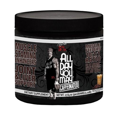 5% Nutrition AllDayYouMay 500g - Caffeinated 25 Servings