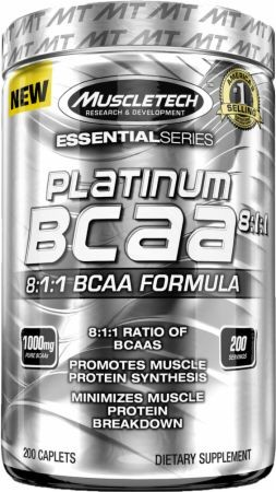 MuscleTech Platinum BCAA 8:1:1 - 200 Kapseln