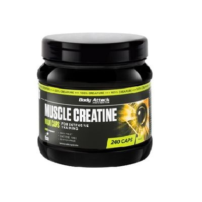 Body Attack Muscle Creatine Creapure 240 Kapseln