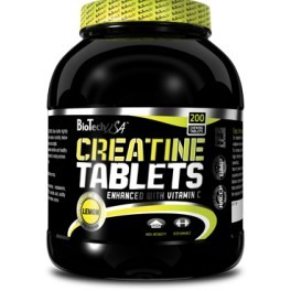 Biotech USA Creatine Tablets 200 Tabletten mit Vitamin C