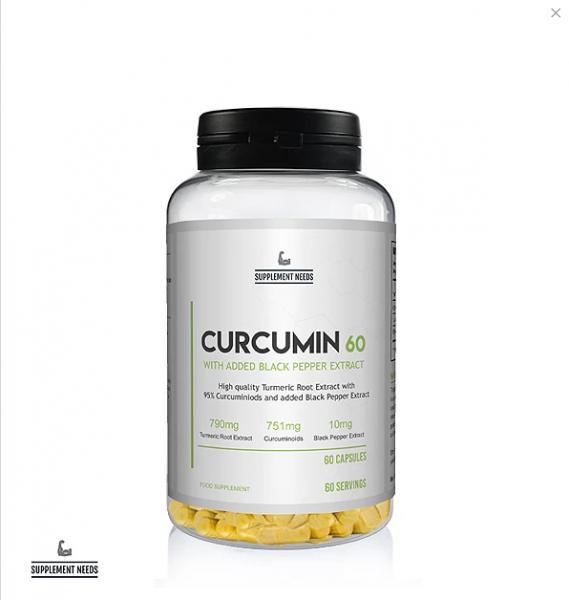 SUPPLEMENT NEEDS Curcumin & Black Pepper Extract 60 Kapseln
