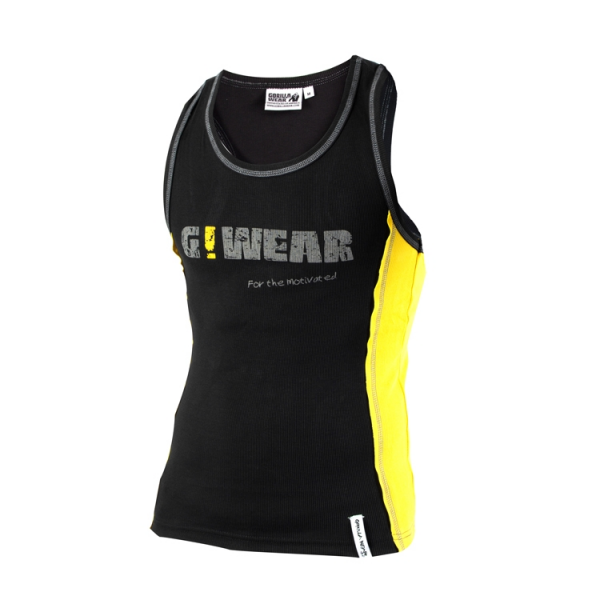 Gorilla Wear G!Wear Rib Tank Top - Black/Yellow