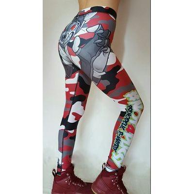 BPS-Pharma - Damen-Leggings Camo Red