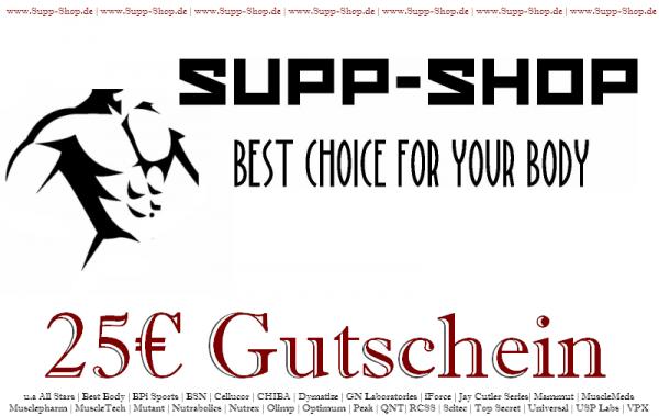 Supp-Shop.de Einkaufsgutschein im Wert von 25€