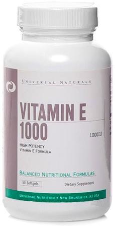 Universal Nutrition Vitamin E 1000 50 Softgels