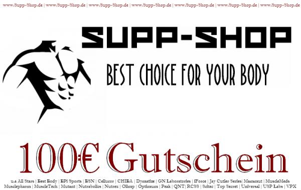Supp-Shop.de Einkaufsgutschein im Wert von 100€