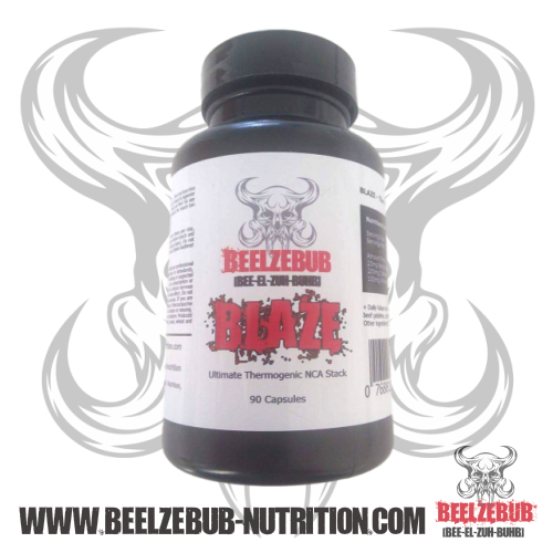Beelzebub Nutrition Blaze 90 Kapseln - NCA Stack (Norcoclaurin/Coffein/White Willow Bark)