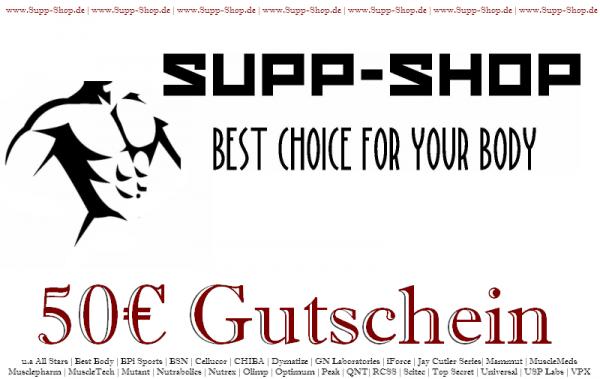 Supp-Shop.de Einkaufsgutschein im Wert von 50€
