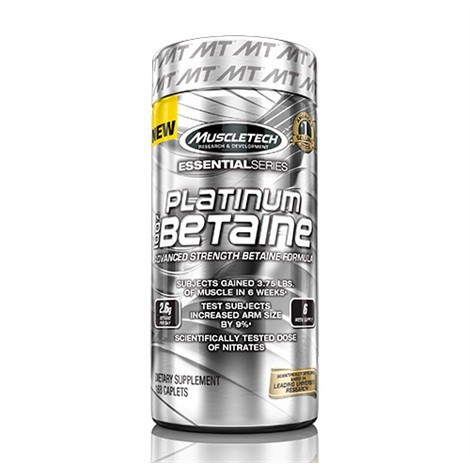 MuscleTech Platinum 100% Betaine 168 Kapseln