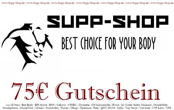 Supp-Shop.de Einkaufsgutschein im Wert von 75€