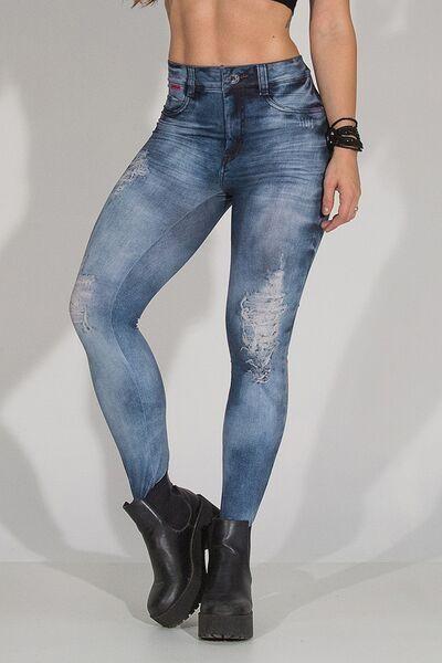 LABELLAMAFIA Legging Back 2 Back Blue