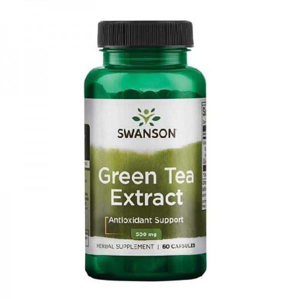 Swanson Green Tea Extract 500mg 60 Kapseln