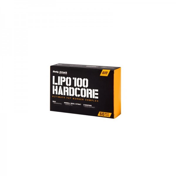 Body Attack LIPO 100-HARDCORE - 60 Kapseln SALE