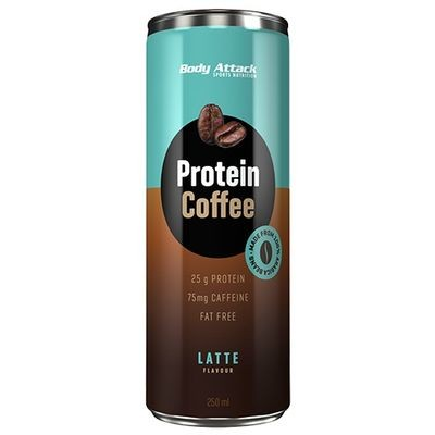 Body Attack Protein Coffee - Cafe Latte (12*250ml)