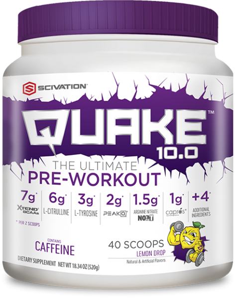 Scivation Quake 10.0 520g Lemon Drop - 40 Servings