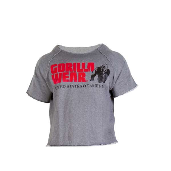 Gorilla Wear Classic Work Out Top - Grey
