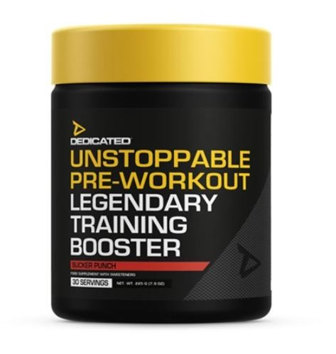 Dedicated Nutrition UNSTOPPABLE 225g - 30 Sevings HARDCORE BOOSTER A LEGEND RETURNS