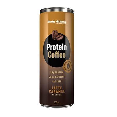 Body Attack Protein Coffee - Latte Caramel (12*250ml)